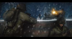 Battle in the snow by gtanoofa