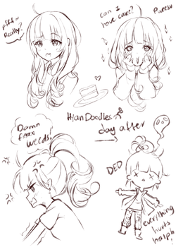 Hyan-tan expressions by Hyan-Doodles