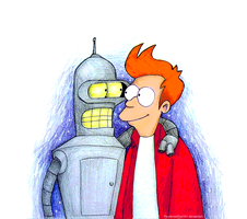 Fry and Bender by PandorasBox341