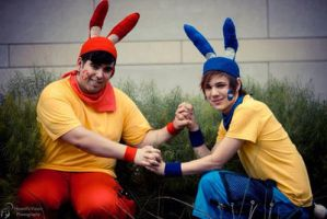 Plusle and Minun Cosplay by SquallXRoxas