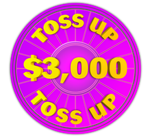 Wheel of Fortune - $3,000 Toss Up Icon by darellnonis