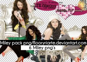 Miley pack png's by FloorYriarte