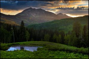Ohio Peak Sunset by joerossbach