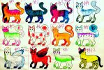 (7/12 OPEN) Cat Adoptables- 8 Points Each! by ZoolasAdoptables