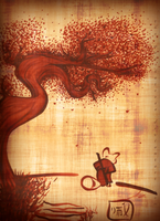 Shifu and the Peach Tree by the-Mad-Hatress