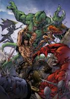 Conan and Red Sonja by Pask