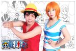 One Piece - Nami East Blue Luffy by MonicaWos