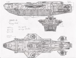 R.U. Flying Whale ship concept by Mech-Maker