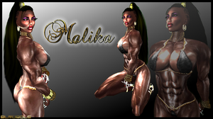 MALIKA: EBONY MUSCLE by SLMUSCLE