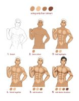Male torso process by Xectore
