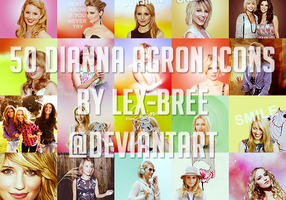 50 Dianna Agron Icons by Lex-Bree
