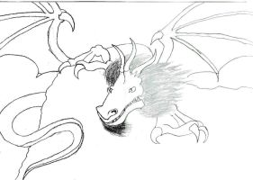 dragon drawing 2 by DraveDragonheart
