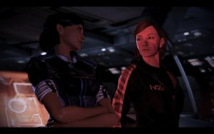 ME3 Jill Shepard and Samantha Traynor by chicksaw2002
