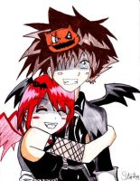 Halloween Sora and Kairi by Gerardwayobsessed