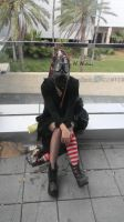 Me in the Gas Mask by MicrocosmicChaos