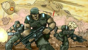 Gears of War Entry 1b by artistjerrybennett