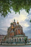 Dusk over Church of the Savior on Spilled Blood by crh