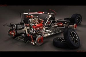 Hot rod ford chassis view by StkZ613