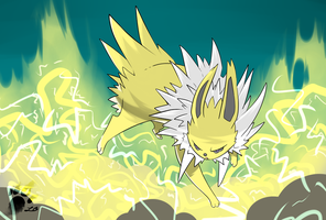 The Swift Lightning Jolteon by TheBlazingK