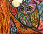 Owl-- 2nd time with soft pastels by alexislum66