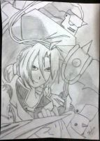 Edward and Alphonse Elric by ThousandBlackMagic