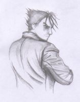 Jin Kazama sketch by PocketNinja85