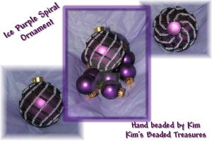 Ice Purple Spiral Ornament by DragonKissses
