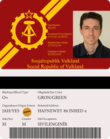 National ID Card - Social Republic of Vulkland by AlienatedHumour
