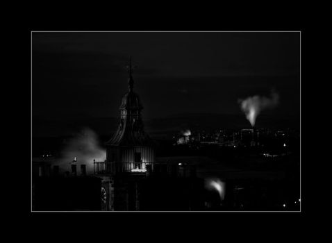 Stirling Night time view by Dr-Koesters