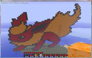 Minecraft flareon pixel art by Nyeep