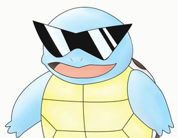 Gangsta Squirtle by 13ackup