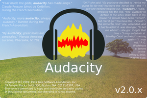 Splash Screen Audacity 207-v3 by victorwestmann
