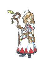 white mage art trade by Jump-Button