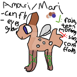 Amari the cat-deer hybrid ref by AnimalJamFan99