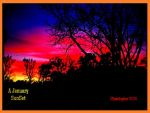A January SunSet in Orange Frame, Indiglow Format by HomeOfBluAndshadows