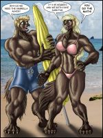 WOLVERINE BEACH DAY by Eggplantm