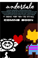 Undertale 8-bits Game Movie Poster (fan-made) by jorgepuey5