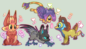 PhuiJL creatures by griffsnuff