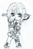 Commission Punk Elf chibi by ButterflyWingies