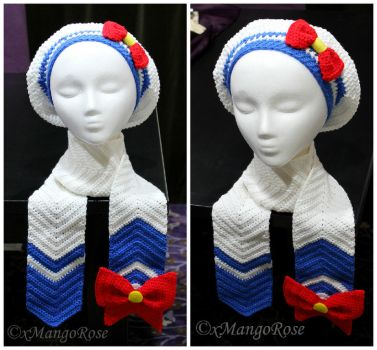 Sailor Moon Inspired Scarf and Slouchy Beret Hat by xMangoRose