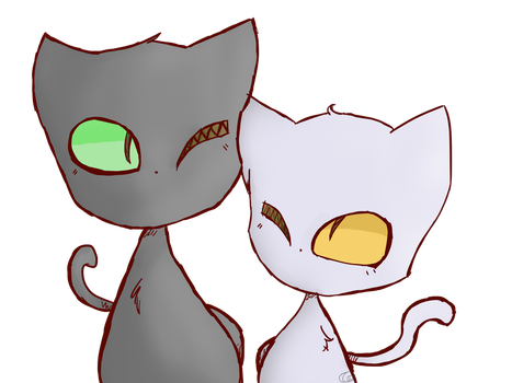 Two cats, one deviation by Mangatilda