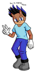Davo the hedgehog by MightyRay