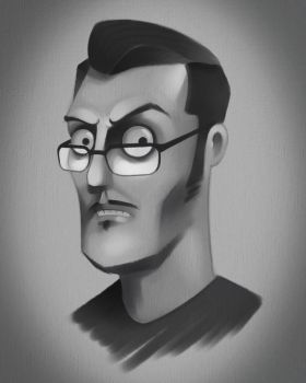 Self-Portrait Caricature by therayben