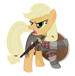 Applejack as Boromir by shadowdark3