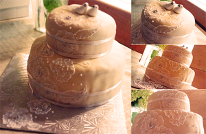 First wedding cake by miggea