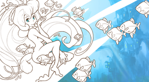 Fishes wip by YoshiCanFly