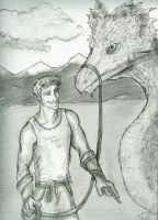 Charlie and a dragon by Hillary-CW