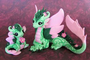 Flower Dragons 1 by DragonsAndBeasties
