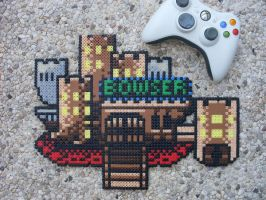 Super Mario World - Bowser's Castle - Perler Bead by BigBossFF