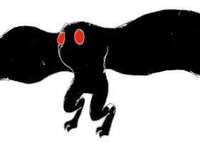 Cryptid014E-Mothman by MegamanNeos